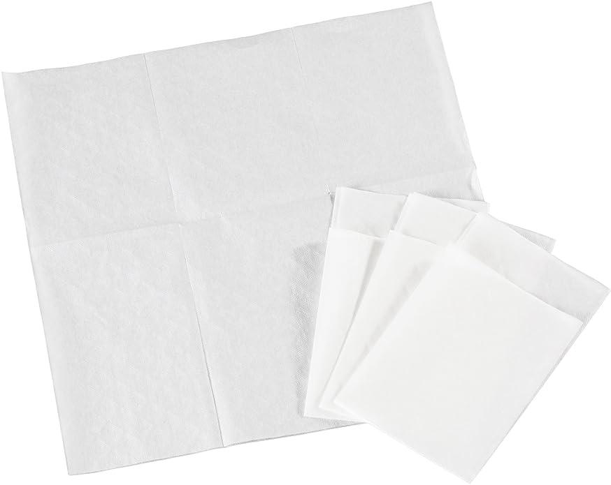 まっすぐ失望危険六つ折り 紙ナプキン 白無地 10000枚