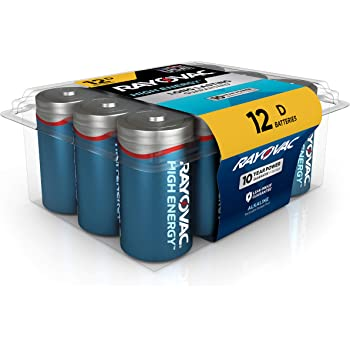 Rayovac D Batteries, Alkaline D Cell Batteries (12 Battery Count)