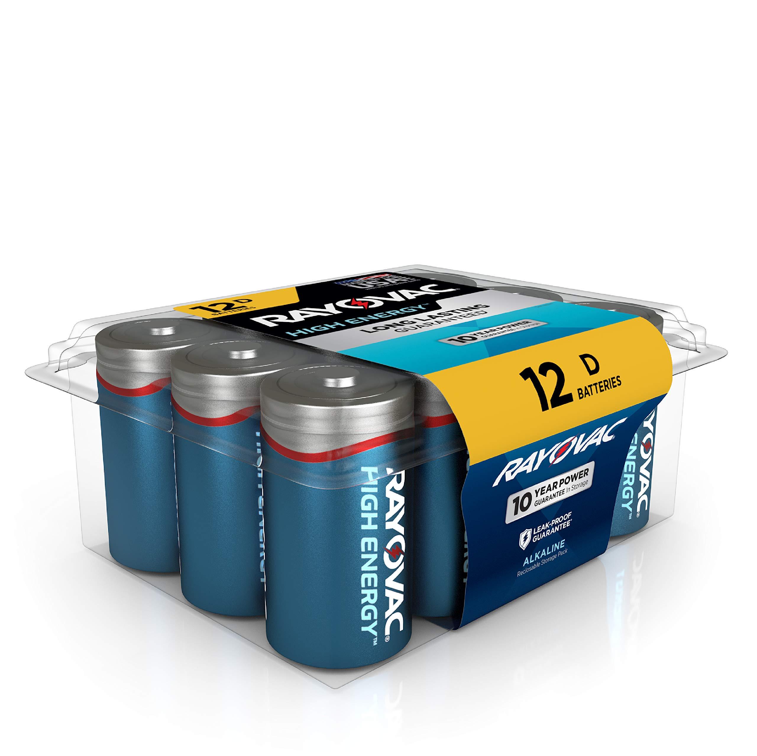 RAYOVAC 12 Pack Alkaline Batteries 813 12PPK
