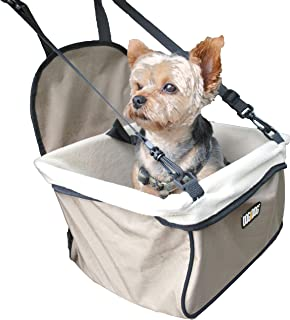 DOG for DOG Puppy Booster Car Seat Cover for Small Dogs & Puppies - Portable/Foldable/Collapsable Pet Car Carrier with Safety Leash - Dogs 12Lbs & Under