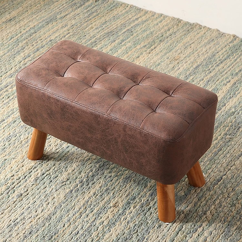 MXD Stool Change shoes Stool Door Sofa Stool Solid Wood Small Bench Bench Clothing Living Room Doorway Brown