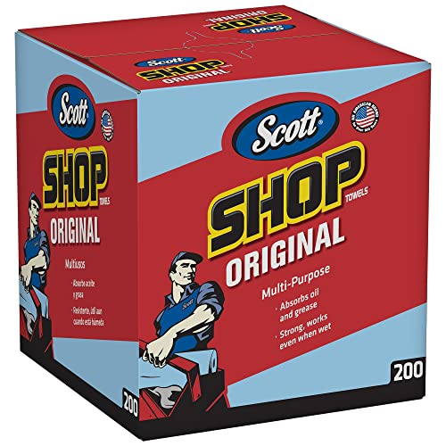 Kimberly-Clark Scott Shop Towels Original (75190), Blue, Pop-Up