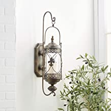 Deco 79 68448 Metal & Glass Candle Sconce