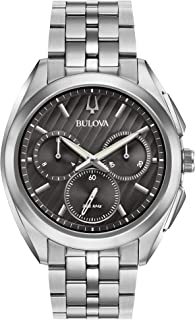 Bulova Men's 45mm CURV Collection Stainless Steel Chronograph Watch