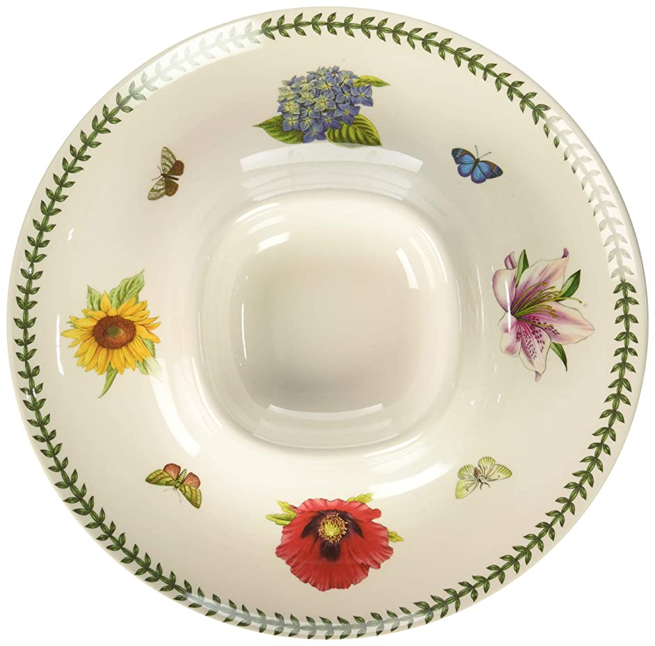 Portmeirion 625730 Botanic Garden Melamine Chip And Dip, White