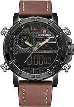 Men's Waterproof Digital Sports Leather Wrist Watch Nightlights Quartz Watches