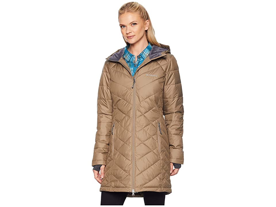 Columbia Heavenly Long Hooded Jacket (Truffle) Women