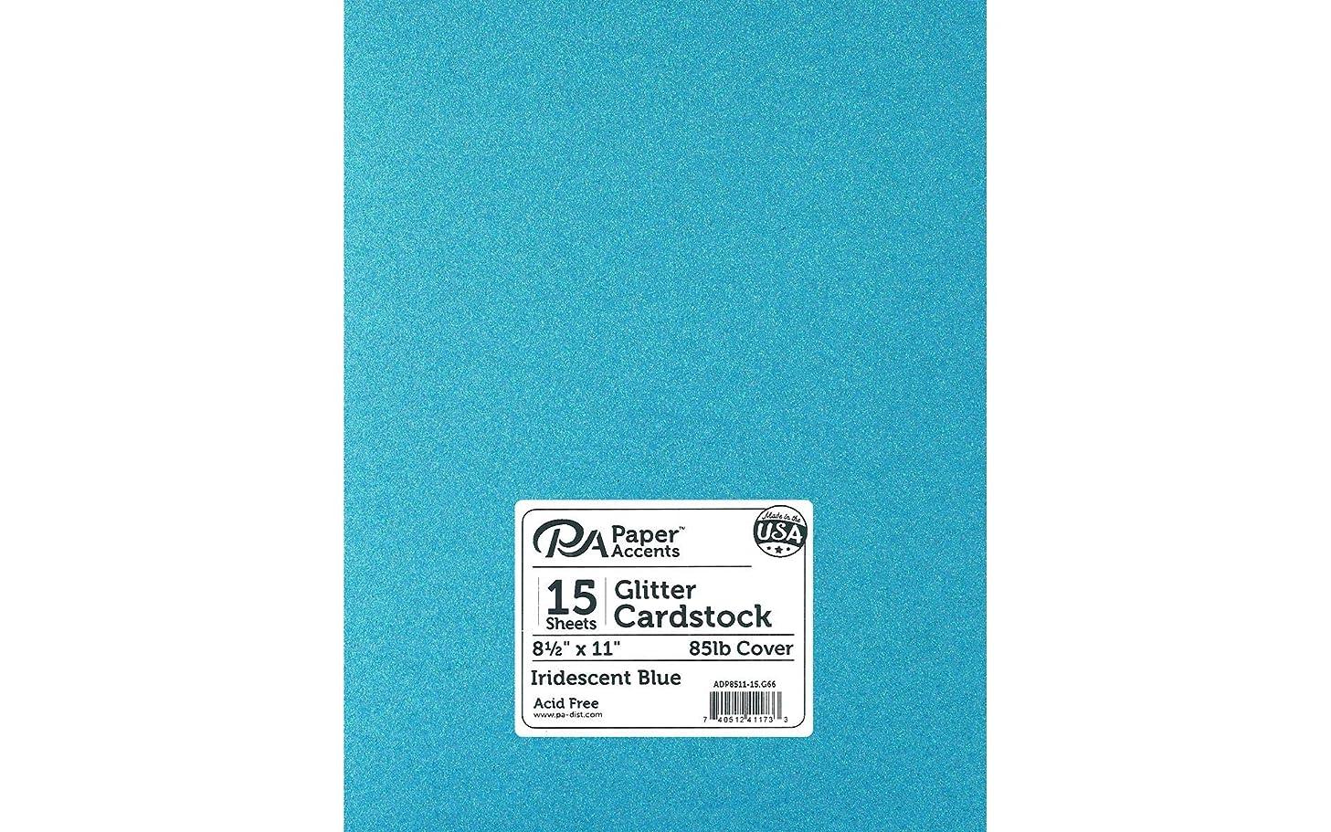 PA Paper Accents ADP8511-15.G66 Cdstk Glitter 8.5x11 Blue None