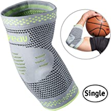 Velpeau Elbow Brace Compression Sleeve with Gel Pads Support for Tendonitis, Tennis & Golf Elbow Treatment, Arthritis, Bursitis, Relieve Joint Pain During Any Exercise for Women & Men (Large)