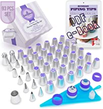 Cake&Deco Russian Piping Tips Set – 93pcs Cake Decorating Baking Supplies Kit with Gift Box for Storage - 36 Premium Russi...