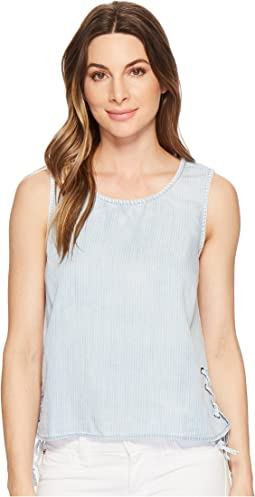 Michael Stars Linen Denim Tencel® Tank Top with Side Lace-Up