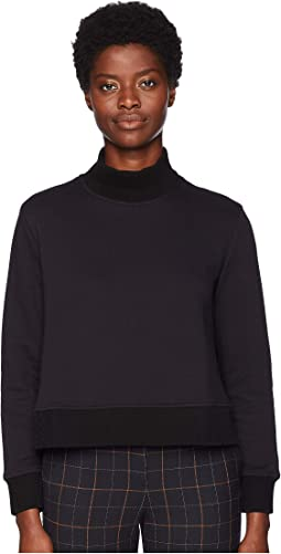 A-Line Sweatshirt with Knit Details