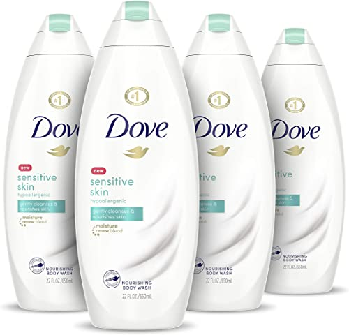 Dove Body Wash Hypoallergenic and Sulfate Free Sensitive Skin Effectively Washes Away Bacteria While Nourishing Your ...