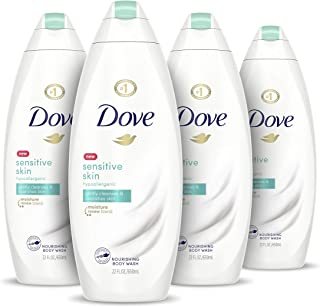 Dove Body Wash Hypoallergenic Gently Cleanses & Nourishes Skin Sensitive Skin Moisturizing and Sulfate-Free Cleanser 22 oz...