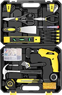 ENTAI Tool Set, 176-Piece Tool Kit with 3.6V Cordless Screwdriver for Men Women Home and Household Repair, Complete Home T...