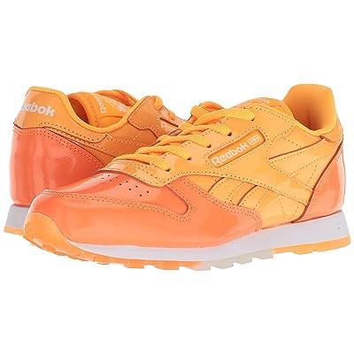 Reebok Kids Classic Leather (Little Kid) (Fire Spark/Wild Orange/White) Kids Shoes