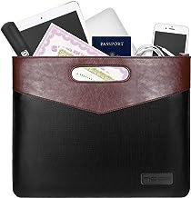 MoKo Fireproof Document Safe Bag, [Fire & Water Resistant] Certificate & File Document Portfolio Business Storage Bag, Zip...