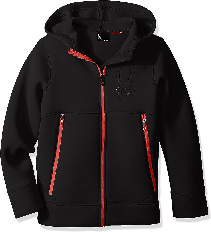 Spyder Boys Orbit Fleece Jacket, Black Formula, XXSmall