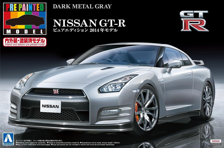 caliente Aoshima Bunka Kyozai 1. 2.4. 2.4. 2.4. previo a la pintura modelo de serie No. 3.9. Nissan GT-R R3.5. 2.01.4.-ano de metal gris oscuro pintado modelo de plaestico  Envío 100% gratuito