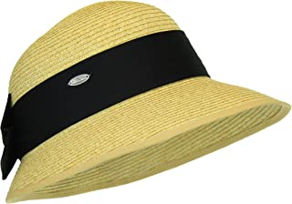 Straw Packable Sun Hat - Wide Front Brim and Smaller Back