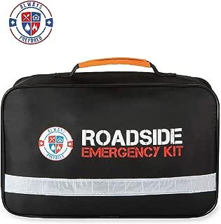 Always Prepared Premium Roadside Safety Assistance Kit - Car Emergency Kit with Jumper Cables - Roadside Assistance