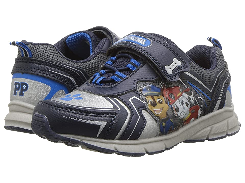 Josmo Kids Paw Patrol Lighted Sneaker (Toddler/Little Kid) (Navy/Silver) Boys Shoes