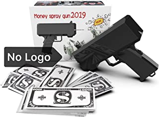 1731 NO Logo Money Gun with no Logo on Both Side it Come with10,000$ Fake Money, Money Gun with no Writing, Black Money Gun, Cash Gun for Game for Party Birthday