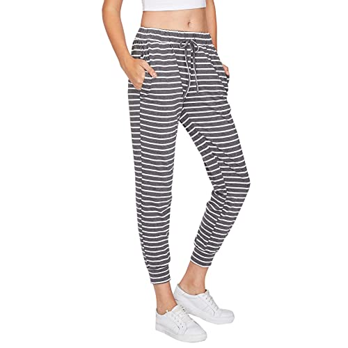e9cf49990547 SweatyRocks Women Pants Color Block Casual Tie Waist Yoga Jogger Pants