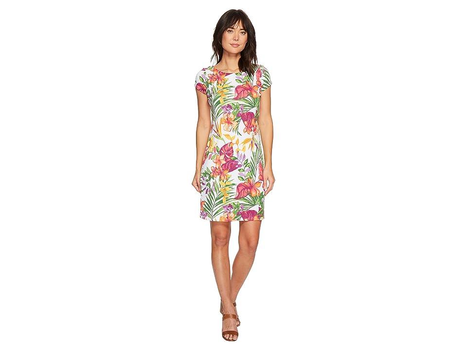 Tommy Bahama Marabella Blooms Short Dress (White) Women