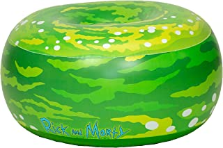 Rick & Morty Inflatable Ottoman Portal Chair - for Kids & Adults - Use in Living Rooms, Kids Room, Dorm Rooms, patios, picnics or Tail Gates.