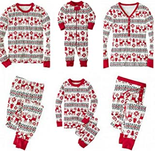 SERAPHY Matching Christmas Pajamas Family Set Holiday Pjs Matching Couples Kids 2 Pieces Warm Clothes Sleepwear
