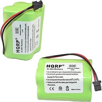 HQRP 2-Pack 2200mAh Battery Compatible with Uniden Bearcat BC250 BC245 BC245XLT UBC245XLT BC250D BC296 BC296D Scanner Plus HQRP Coaster