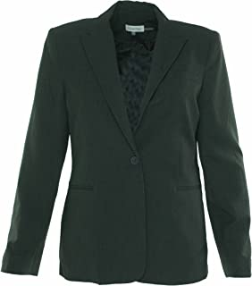 CALVIN KLEIN Women's Single Button Suit Jacket
