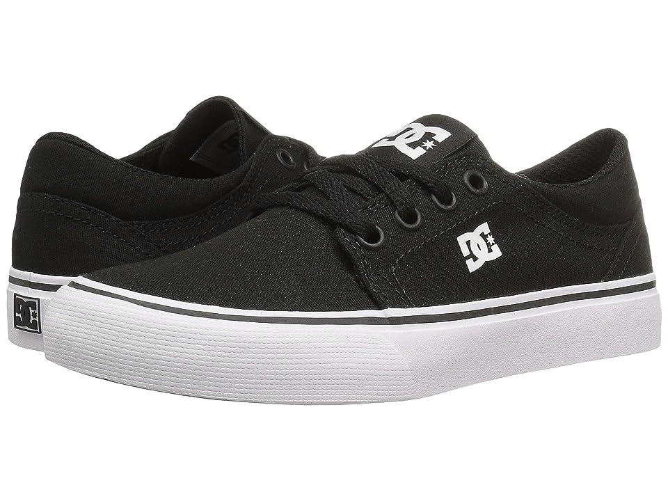 DC Kids Trase TX (Little Kid/Big Kid) (Black/White) Boys Shoes