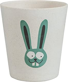 Realizzato con bamb/ù e bucce di riso Per bambini Con disegno di Ippopotamo JACK N JILL Bicchiere risciacquo Igienico e biodegradabile