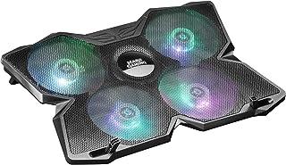 "Mars Gaming MNBC3, Base PC, jusqu'à 17,3"", 4 Ventilateurs, RGB Flow, 2 x USB2.0"