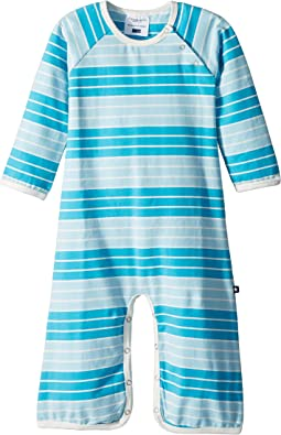 Toobydoo - Aqua Stripe Bootcut Jumpsuit (Infant)