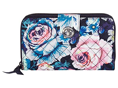 Vera Bradley Iconic RFID Turnlock Wallet (Garden Grove) Wallet Handbags