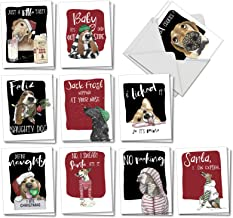boxed christmas cards with dogs