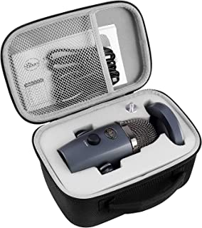 Microphone Case for Blue Yeti Nano Premium USB Mic, Carrying Storage Holder Fits for Cables and Other Accessories(Box Only)