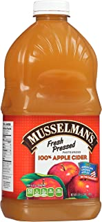 Musselman's Fresh Pressed Apple Cider - healthy, low calorie, gluten free, low sodium, kosher, fat-free, no cholesterol, no high fructuse corn syrup, from 100% fresh American Grown Apples. (64oz x 8)