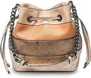 Women's PU Leather Drawstring Bucket Bag Crossbody Bag Shoulder Bag Purse