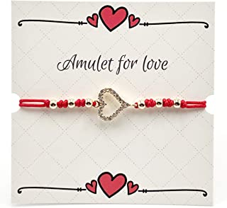 Amulet for Love Adjustable Red String Bracelet for Women and Girl