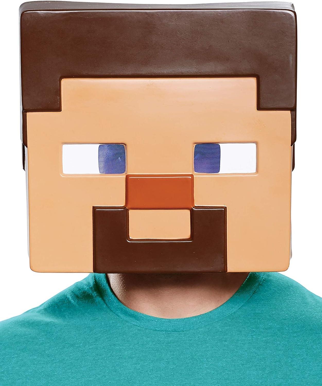 Disguise Minecraft Steve Adult Half Mask