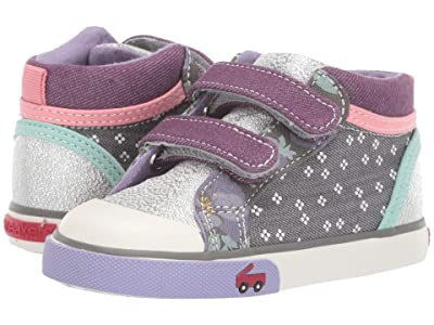 See Kai Run Kids Kya (Toddler/Little Kid) (Gray/Purple Mix) Girl