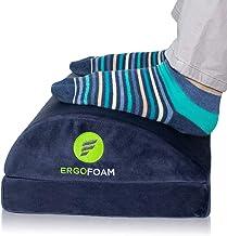 ErgoFoam Adjustable Desk Foot Rest for Added Height | Orthopedic Teardrop Design | Large Premium Foot Rest Under Desk | Mo...