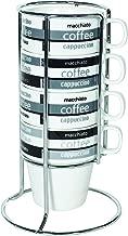 A120 22190 Stackable Cappuccino Chrome 4 Piece