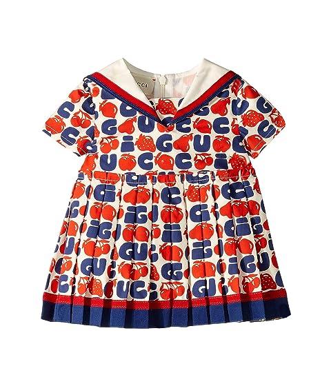 Gucci Kids Fruit On Poplin Dress (Infant)