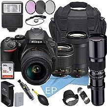 $899 » Nikon D5600 W/AF-P DX NIKKOR 18-55mm f/3.5-5.6G VR + Nikon AF-P DX NIKKOR 70-300mm f/4.5-6.3G ED Lens + 500mm Telephoto Zo...