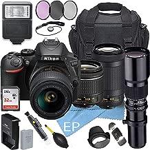 $739 » Nikon D5600 W/AF-P DX NIKKOR 18-55mm f/3.5-5.6G VR + Nikon AF-P DX NIKKOR 70-300mm f/4.5-6.3G ED Lens + 500mm Telephoto Zoom Lens + Accessory Bundle (21pc Bundle)